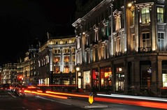 Regent Street/Oxford Street, London (Mo Baig) Tags: city longexposure urban london night nikon regentstreet lighttrails 201005 allrightsreserved tamron2875f28 nikond90 mobaig