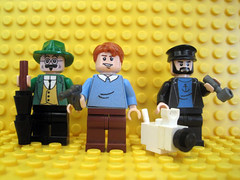 Tintin Characters (Hound Knight) Tags: comic lego cartoon tintin minifig custom