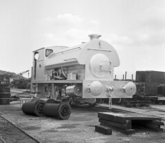 Peckett 2156 NCB Chislet Colliery 18 July 1965 (pondhopper1) Tags: blackandwhite white black industrial steam railways ncb uksteam peckett 040st