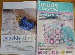 Beads and Beyond June 2011 (Glittering Prize - Trudi) Tags: magazine beads shell beyond trudi tutorial glitteringprize