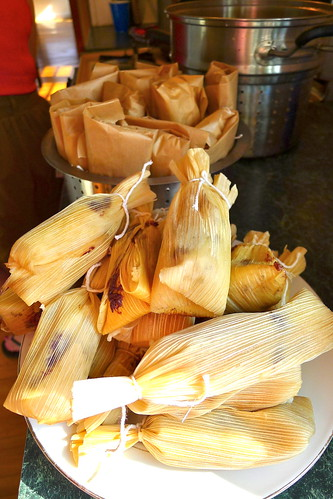 Tamale assembly line