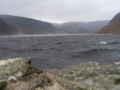 Spume (fingeronthebutton) Tags: winter cold water scotland waves wind glen loch chill esk forfarshire glenesk lochlee