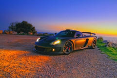 Porsche Mirage GT - Sunset (Youureck) Tags: auto sunset black france colors car la automobile porsche mirage gt turbie kyter