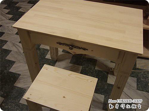 手作木工化妝台-20
