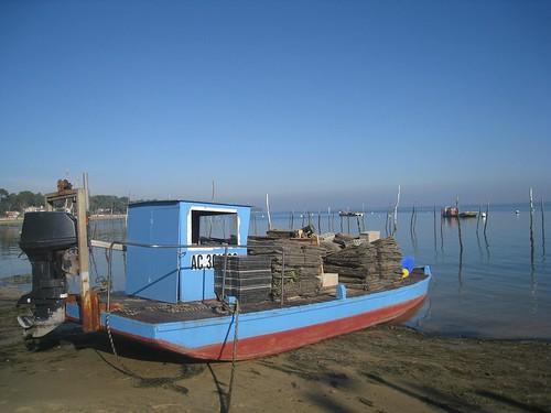Oyster Farms on Arcachon Bay