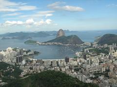 O Rio de Janeiro continua lindoooo ( nikabarbo ) Tags: gua azul mar cu nuvens podeaucar prdios enseadadebotafogo