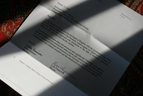 The Tenure Letter