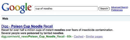 Google Poison Cup Of Noodles
