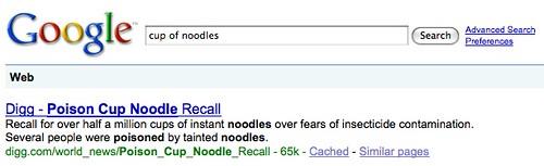 Google Poison Cup Of Noodles
