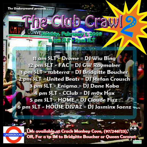 The Club Crawl 2 presented by The Underground
