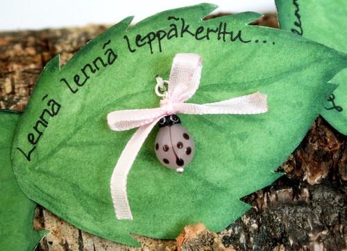 Pink Ladybird pendant