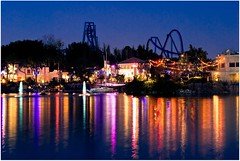Seaworld during the Holidays (kevkev44) Tags: reflection colors night landscape orlando florida bm rollercoaster seaworld coaster manta orlandoflorida seaworldorlando flyingcoaster