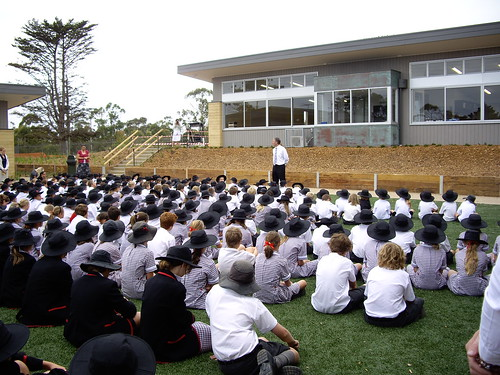 New School's first whole school assembly