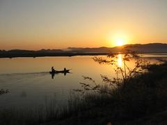 Toward the sun (tranhaiyen) Tags: morning sun water river landscape countryside boat