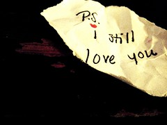 P.S. (Silent Orchestra) Tags: wood love paper words ps note iloveyou istillloveyou silentorchestra laughlovehope psistillloveyou