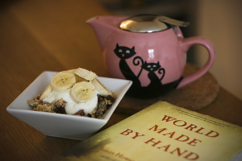 Bircher Muesli with Rooibos Tea and a new read