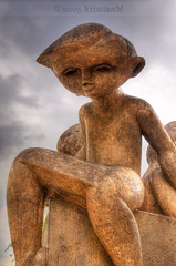 Astroboy (kristian.eric) Tags: boy sculpture art singapore child hdr toapayoh d90 18105mm nikond90