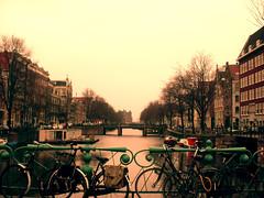 dibujosenelaire (laura loveoftoast) Tags: voyage trip travel viaje canal view bicicletas amterdam bicicles