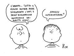 Dimenticanze (Peanuts Reloaded) Tags: aborto diritti umani dichiarazione universale vita comics drawing amnesty international amnesia peanuts reloaded snoopyfriends snoopyandfriends disegno bambini