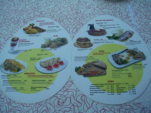 Starlite Diner menu