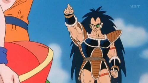 Dragon Ball Kai Raditz y Goku