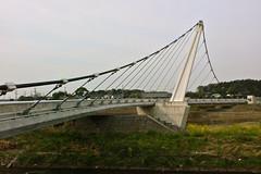 境川遊水池公園の吊橋