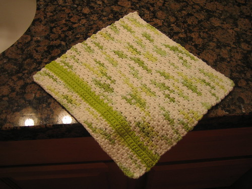 My first crocheted dishcloth!