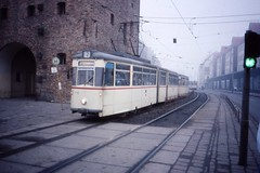 Rostock  Gotha tram nr 718, Steintor, .DDR  jan 1990