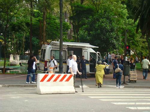 Unidade da Guarda Civil Metropolitana na Praça da República