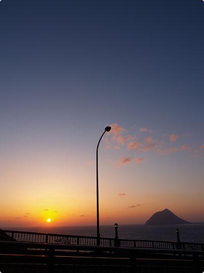 八丈島の夕焼け
