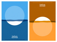 Before Sunrise / Before Sunset posters (Sam's Myth) Tags: sunset art sunrise movie poster julie before ethan richard linklater hawke delpy