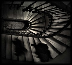 Up and Down (Atilla1000) Tags: people black sepia stairs explore human interestingness3 merdiven artlibre artlibres storybehindimage