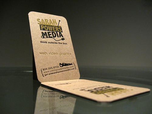 Sarah Powers Media Letterpress Business Card