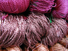 yarn - pinks and purples