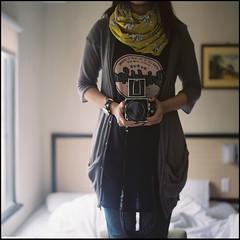 headlessness (zyryntyrah) Tags: reflection 120 6x6 film hotel mirror fuji room taiwan hasselblad medium format taipei gaye carlzeiss hasselblad500cm pro400h planar80mmf28 sirintira zyryntyrah april122009