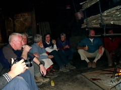 Our gang boozing around the campfire ;) (Linda De Volder (the new layout is horrible)) Tags: india tattoo canon geotagged piercing arunachal ziro apatani noseplugs powershots5is lindadevolder