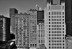 (Kevin Dickert) Tags: city urban blackandwhite bw chicago skyline architecture downtown cityscape cta skyscrapers loop searstower el fromabove l canon5d lookingdown hdr highdynamicrange downtownchicago highrises fisherbuilding urbanity historiclandmark danielburnham oldcolonybuilding 311southwacker canonef1740mmf4l johnmarshalllawschool abovestreetlevel iamhydrogen kevindickert metropolitancorrectionalfacility