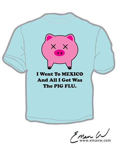 Pig Flu T-Shirt Mock