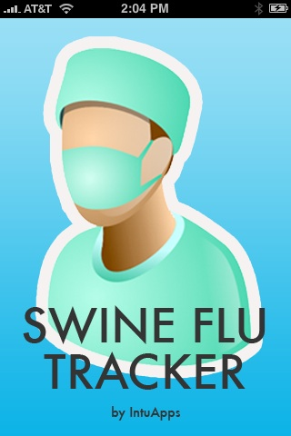 Swine Flu iPhone App Home
