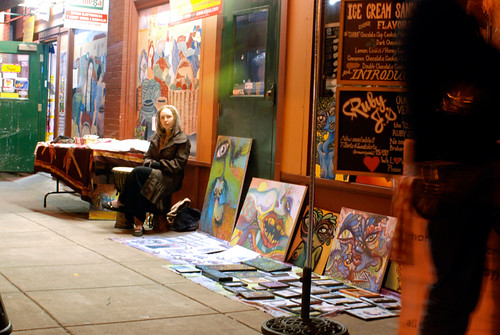 Last Thrusday artwalk on Alberta St April 30th