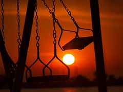 It don't mean a thing, if it ain't got that swing (dranidis) Tags: sunset red sea orange sun silhouette marina olympus swing greece thessaloniki 43 dimitris salonica thessalonika saloniki salonika fourthirds thessalonica  explored kalamaria  e520  olympuse520 dranidis dimitrisdranidis