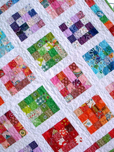 girls crayon quilt close-up