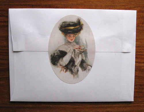 Gibson Girl hot tea sticker