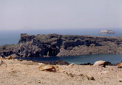 Thira 12 (drtana) Tags: sea water landscape volcano coast aegean santorini caldera cyclades thira greece2002     hellas2002