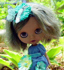 Lena relaxes in the Garden.