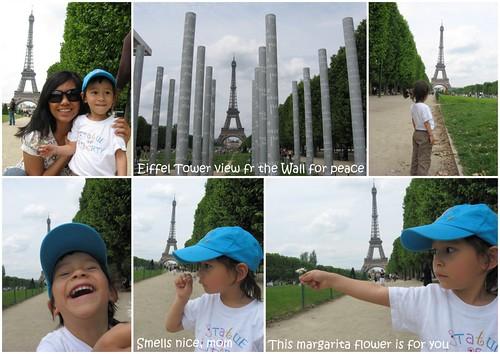 tour eiffel mur de la paix