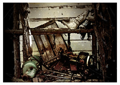 (courtney townsend) Tags: wood old abandoned rotting vintage ancient sewing story alberta skate haunting alive maching untold