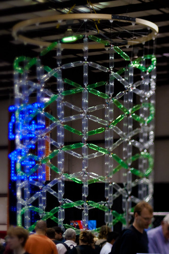 Maker Faire 2009: PET bottle standing wave sculpture
