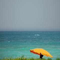 par-asol (pannaphotos aka Anna Leporati Serrao) Tags: sea sky yellow waves alone loneliness unique giallo parasol solo solitudine unico beachumbrella assolo pannaphotos