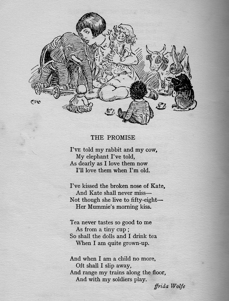 'The Promise' by ffrida Wolfe.        A poem for all Doll-Lovers in their Second Childhood!